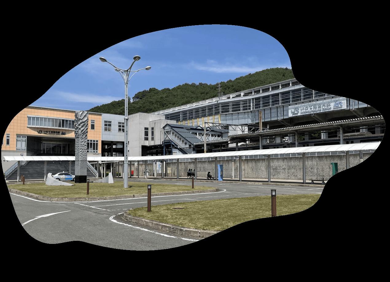 二戸駅を出発の画像